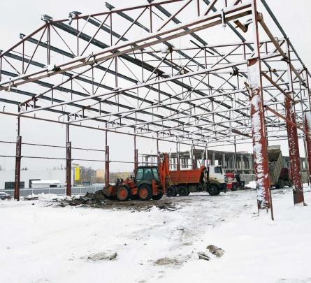 Строительство фабрики лесопильного производства